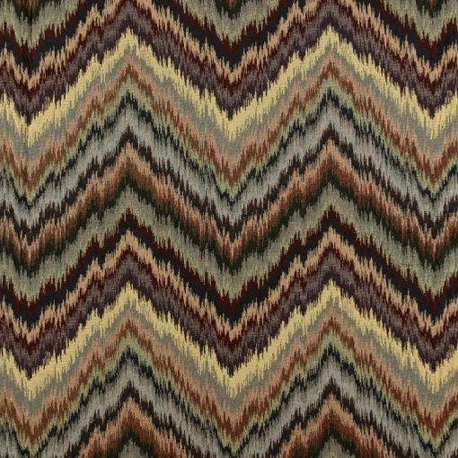 Gobelin burned colours zig-zag pattern