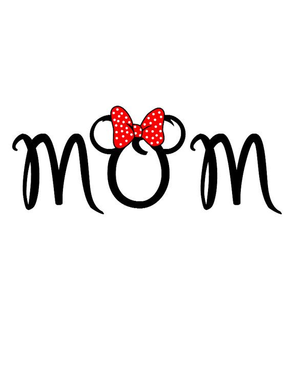 Minnie Mom Disney Custom Personalized  Iron on t-shirt Transfer Decal(iron on transfer, not digital download) on Etsy, $5.00