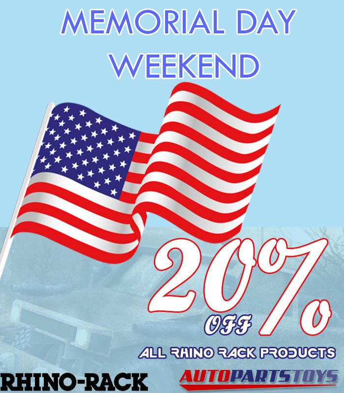 Amazing offer !! Memorial Day Weekend Sale  @@ 20% Off @@ All Rhino Rack products
