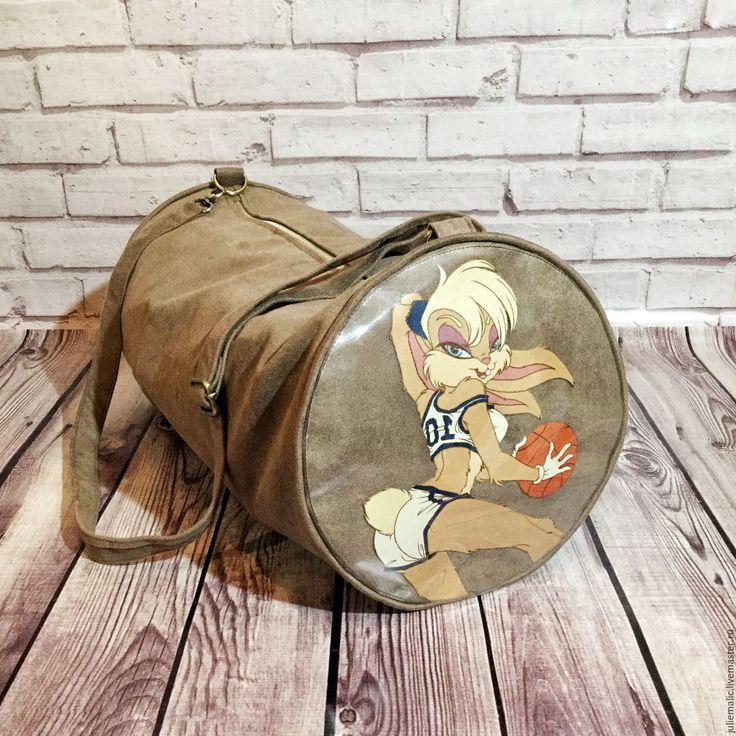 """Купить Дизайнерская сумка из эко-замши с принтами """"Дисней"""" - сумка, спортивная сумка, дорожная сумка"""
