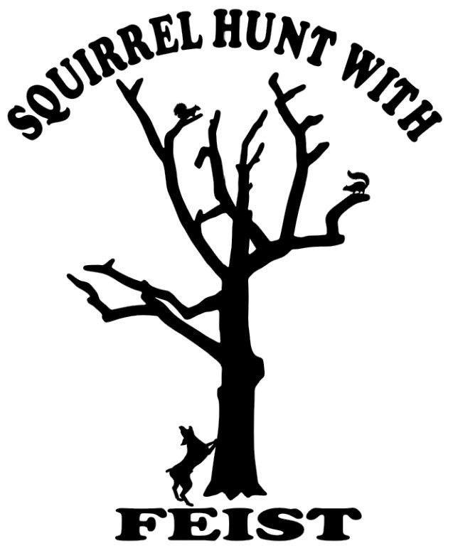 Squirrel Hunting Die-Cut Decal Car Window Wall Bumper Phone Laptop