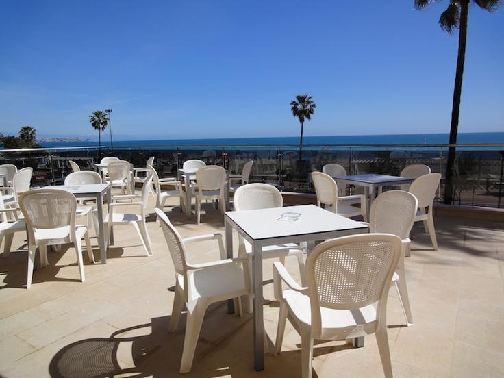 Terraza Snack-Bar  Hotel Angela. Fuengirola, Costa del Sol. SPAIN