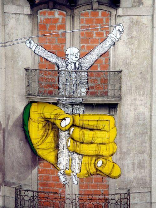 Arte de rua na Fontes Pereira de Melo