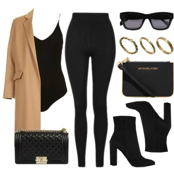 A fashion look from November 2016 featuring Topshop coats, Topshop leggings and Gianvito Rossi ankle booties. Browse and shop related looks.