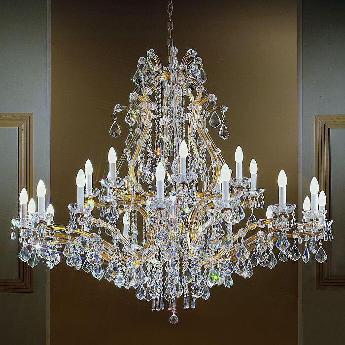 17 Best images about Our favourite chandeliers on Pinterest ...:LargeMaria Theresa chandelier. All Maria Theresa chandeliers are incredibly  ornate, so if you',Lighting