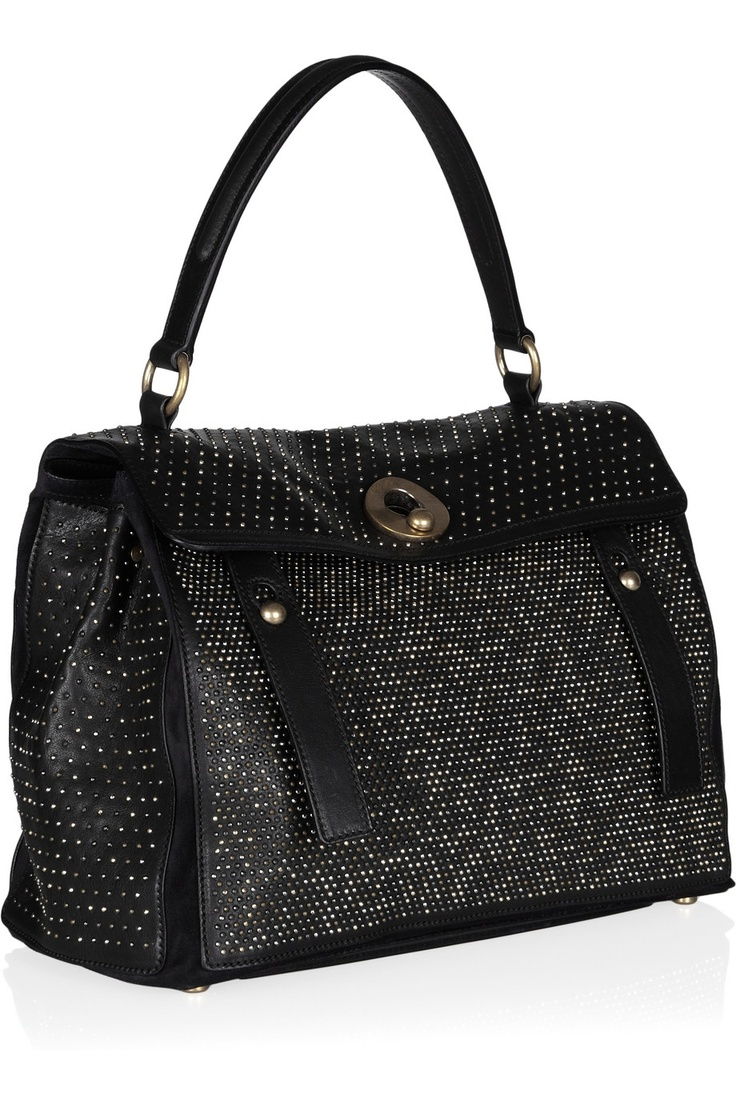 Yves Saint Laurent - Muse Two Medium leather and suede tote ...