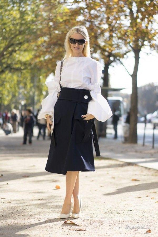 Уличная мода в Париже, весна 2017 8