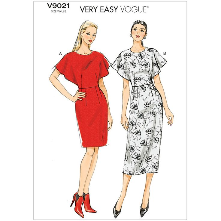 Misses Dress Vogue Pattern 9021.
