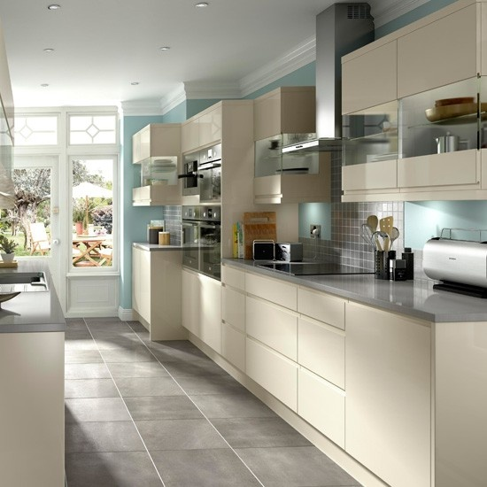 Kitchen-compare.com - BQ Appleby Cream Gloss Handleless.