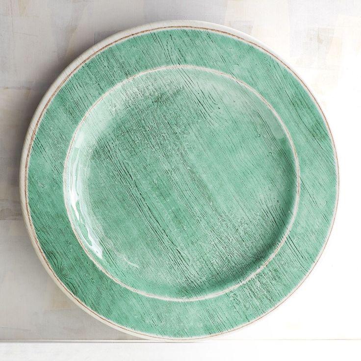 Newport Teal Melamine Dinner Plate