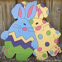 Dancing Egg Bunnies Easter Yard Art By HolidayYardArt