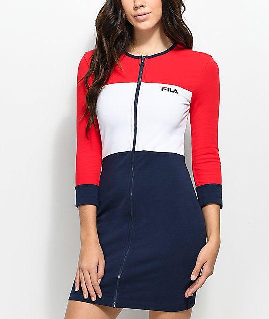 9e9214158063 FILA Vienna Red, White & Blue Bodycon Dress in 2019 | Clothes ...