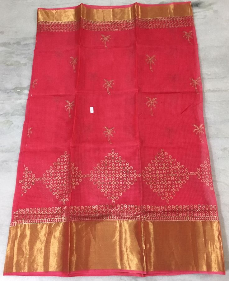 stand out by wearing these latest kota silk sarees with muggu design print with big border .In this different colors...