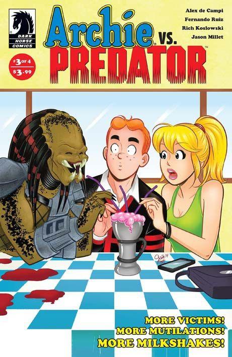 """""""Archie vs Predator 3"""" (2015) Cover di Gisele Lagace #DarkHorseComics #Predator #Archie #GiseleLagace"""