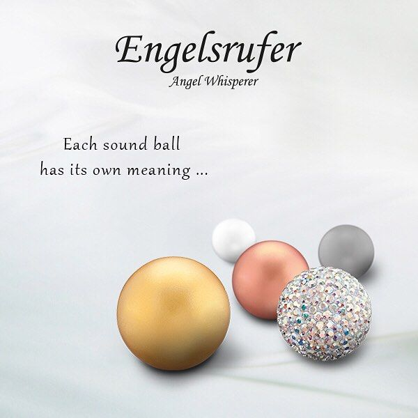 From engelsrufer_uk_ireland - Each soundball has its own chime.  #Engelsrufer #Soundball #Angel #Whispering #Gold #RoseGold #Silver #Meaning #Personal