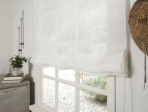 Amazing White Linen Roman Shades And Linen Roman Blind Linen
