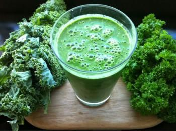 It's Easy Being Green Smoothie - I also add Udo's 3 6 9 Oil Blend and Udo's Wholesome Fast Food Blend + 1 scoop of Udo's Choice Beyond Greens (Organic Greens Powder Blend).  Try it, you just may like it!  :)