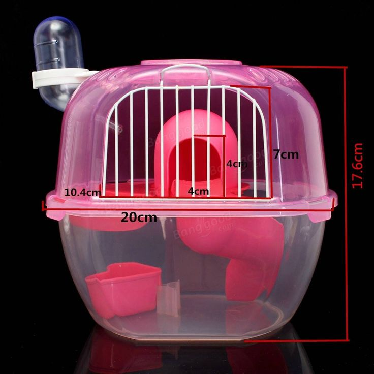 Hamster House Multiunit Plastic House Cage With Exercise Wheel Mouse Toy For Rat Hamster House