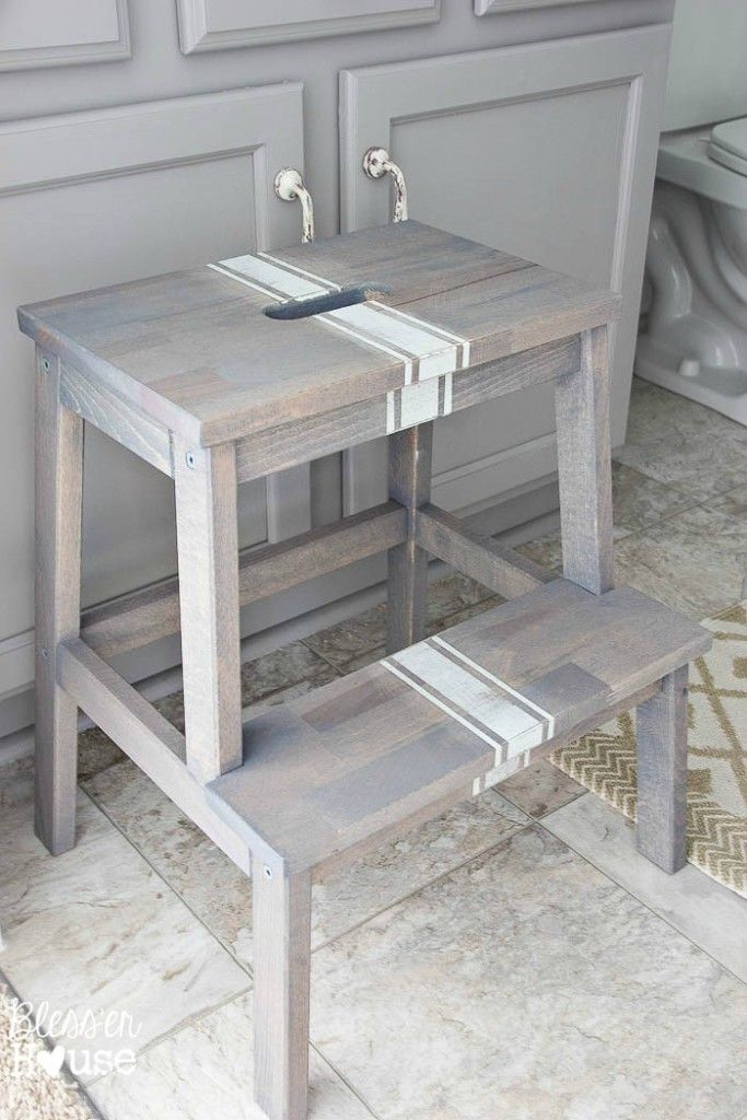 perfect driftwood grain sack stool makeover with ikea luminaire papier. Black Bedroom Furniture Sets. Home Design Ideas