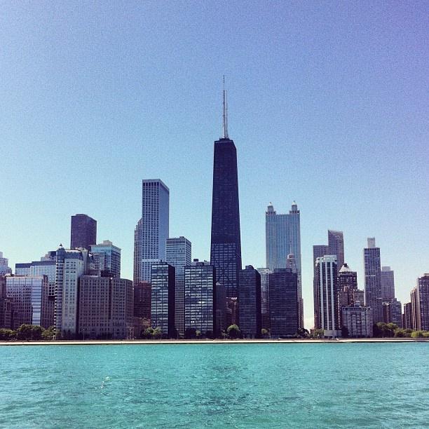 Chicago skyline from Lake Michigan, May 2012