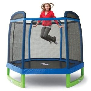 enclosed trampoline for kids