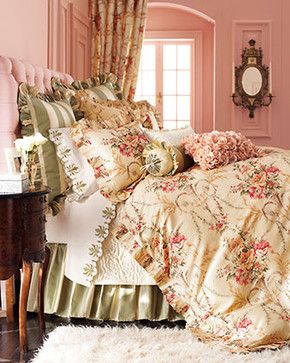 Cosette Bed Linens Rochelle Fitted Sheet, King traditional sheet sets