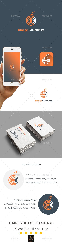 Orange Community Logo — Photoshop PSD #logo #nature • Available here → https://graphicriver.net/item/orange-community-logo-/16831963?ref=pxcr