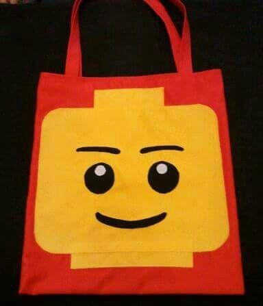 Lego head library bag - HandyManda