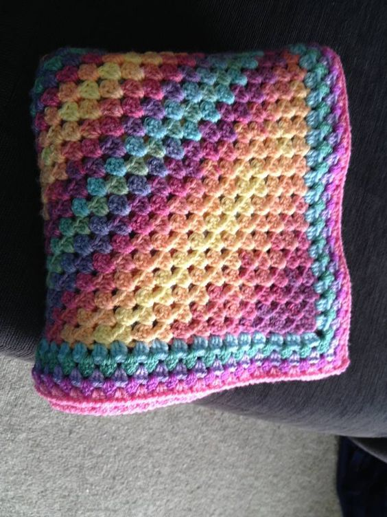 Square Corner To Corner Afghan Granny Style Pattern By