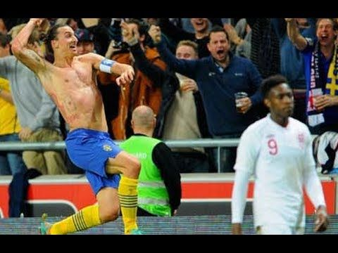 Can you believe it?! Zlatan Ibrahimovic scores an incredible bicycle kick from 30 yards out