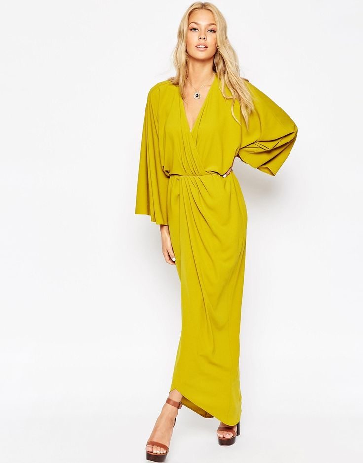 ASOS 70's Caftan Wrap Maxi Dress