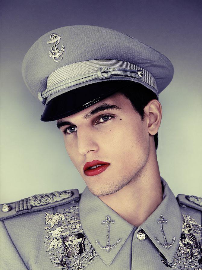 Male model makeup