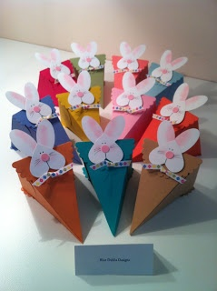 Stampin' Up! Petal Cone Die by Helen at Blue Dahlia Designs: Easter Bunny Petal Cone Baskets