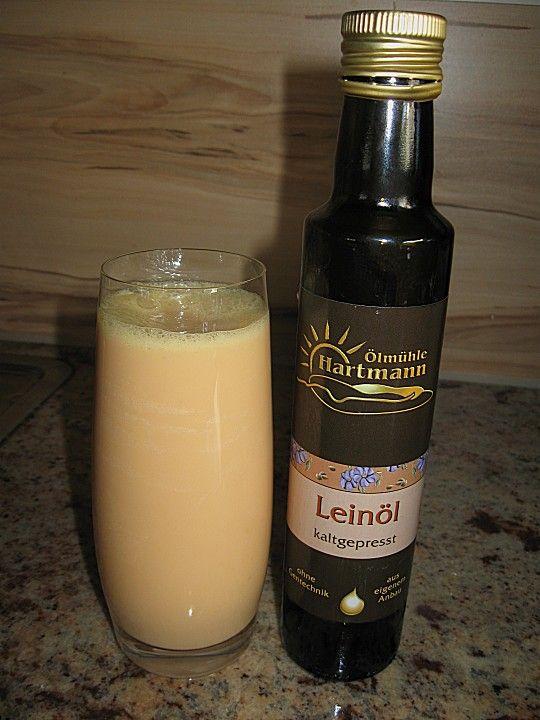Fruchtdrink mit Leinöl