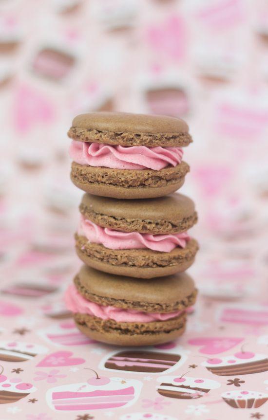 Objetivo cupcake perfecto macarons de chocolate y fresa - Objetivo cupcake perfecto blog ...