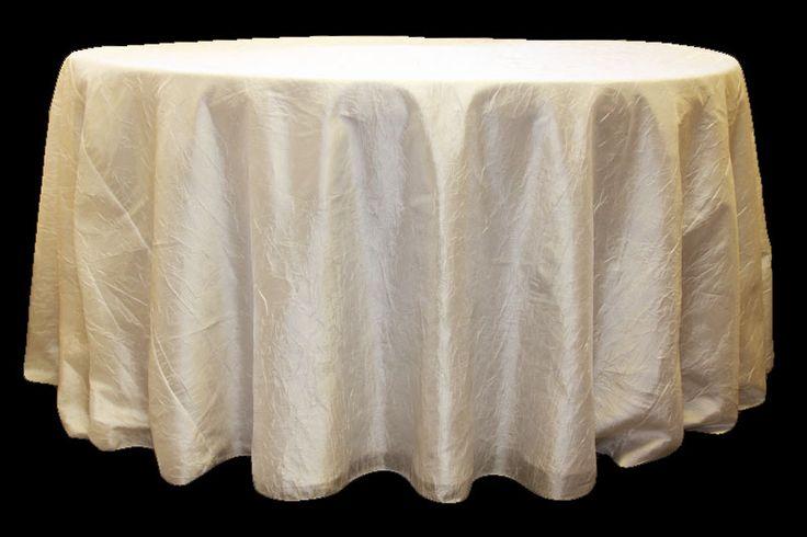 Crush white linen