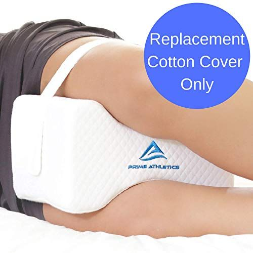 Removable Cotton Cover With Leg Strap For Prime Athletics Knee Pillow For Side Sleepers White Pillow Cover W Strap Only Knee Pillow Not Included Reviews