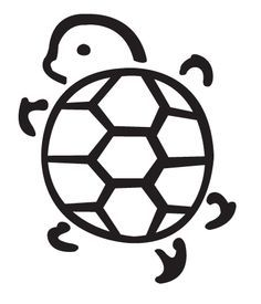 cute turtle outline tattoos