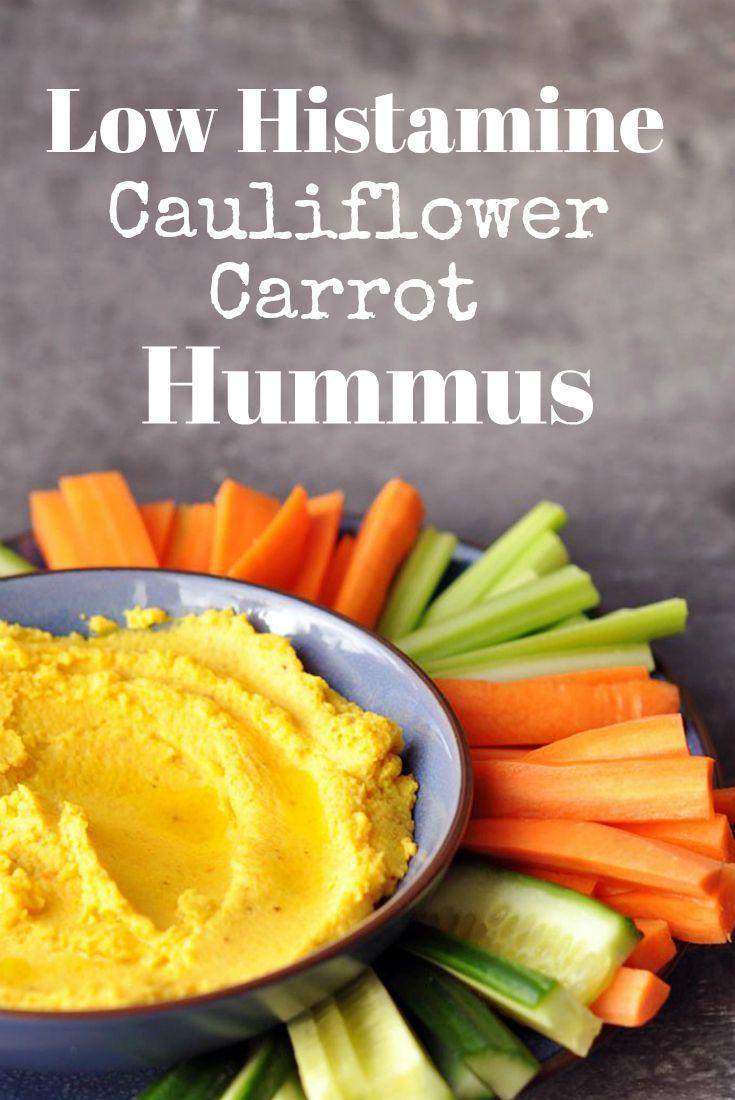 Low Histamine Cauliflower Carrot Hummus. Pin Me :D