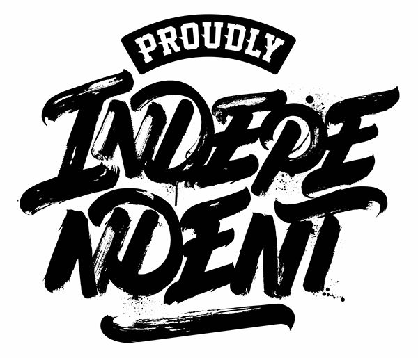 """""""PROUDLY INDEPENDENT"""" logo for Macro Beats djs on Behance"""