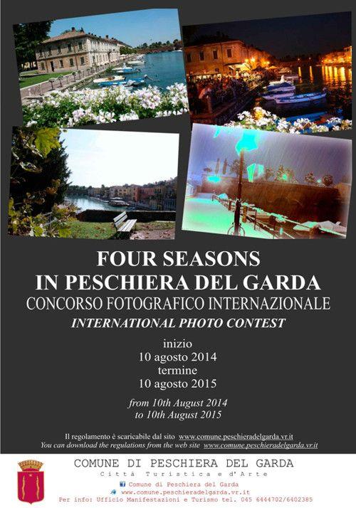 Il Concorso fotografico internazionale Four Seasons in Peschiera del Garda si concluderà il 10 agosto 2015. @gardaconcierge