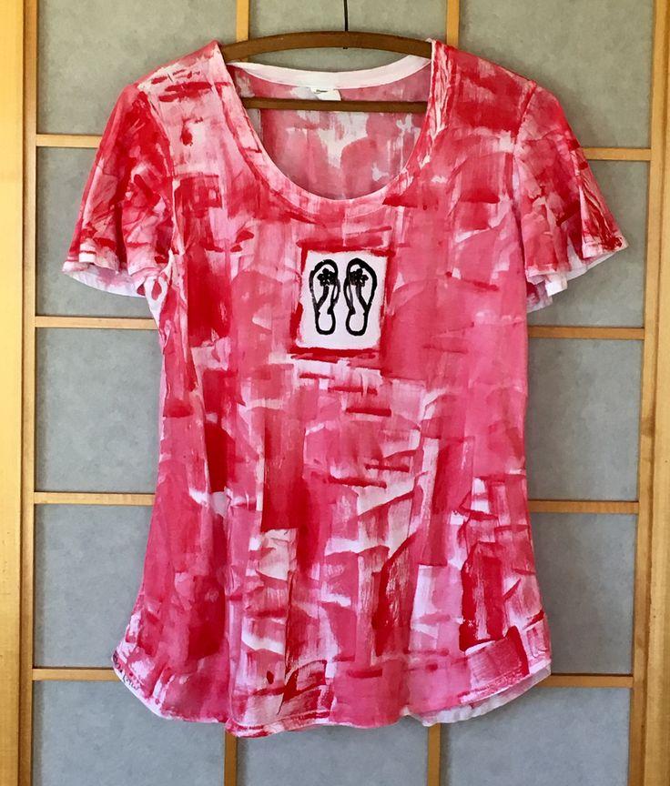 Hawaiian Top - Plus Size Tunic - Tunic - Hawaiian Shirt Woman - Maternity Top - Hand Painted Tunic - Summer Top - Cotton Tunic - Kauai http://etsy.me/2CmNLtz #giftforher #epiconetsy #etsymntt @DNR_CREW @EtsySocial @EtsyRT @NightRTs
