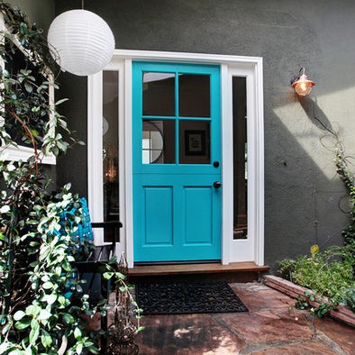 "color is Kendall charcoal by Benjamin Moore.""  """"Cool Aqua by Benjamin Moore."" Just found your answer to this question on a subsequent photo. Thanks!"