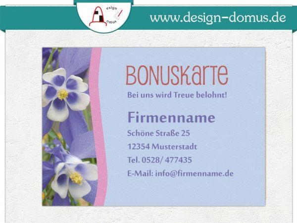 personalisierte Bonuskarten mit Firmendruck