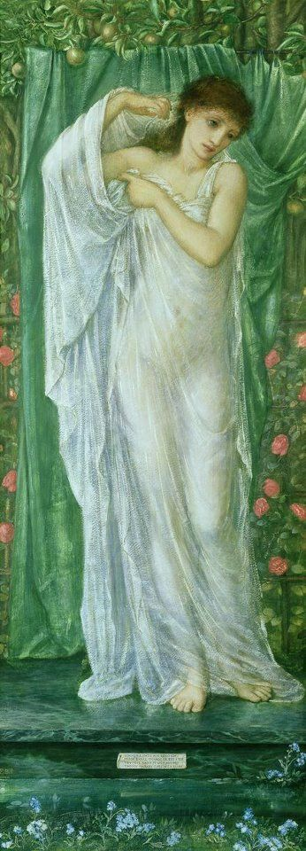 Summer by Edward Burne-Jones - I love this artists photos, even though I went hunting for a lovely jade green painting of his, sure that there were many, this was the only oneI could find. I guess his work is always so lush, deep and inviting that I assumed it was green!