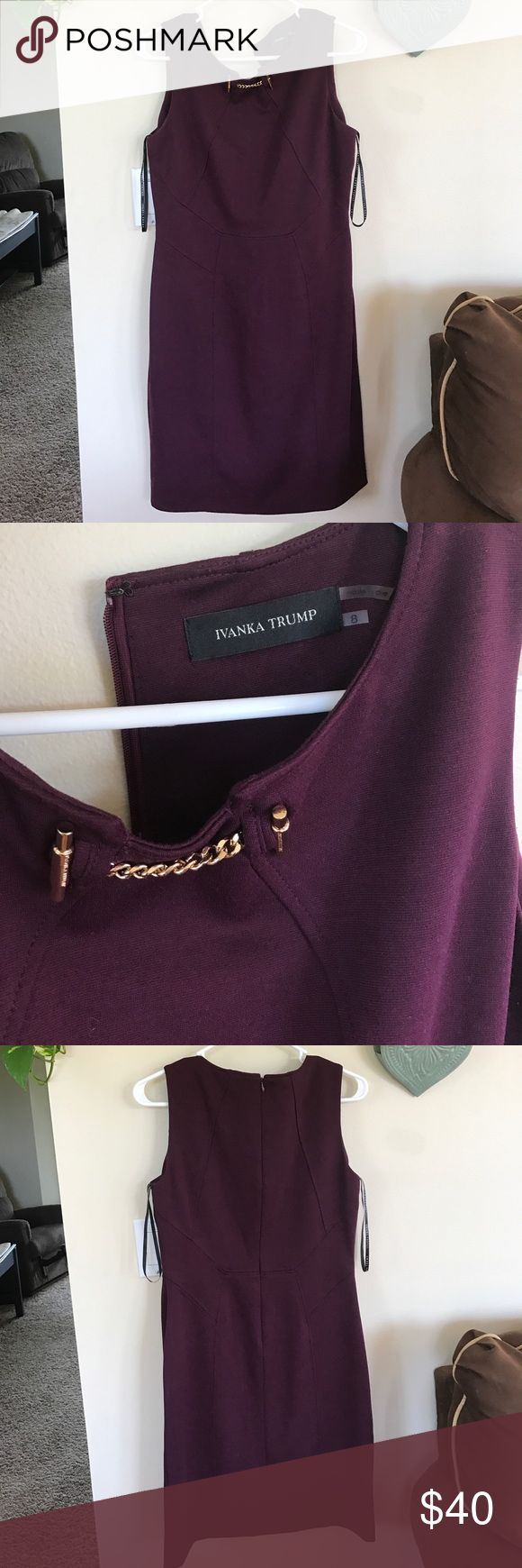 Ivanka trump dark purple dress Excellent condition worn once. Quality material, will last a long time. Bought from Nordstrom. Ivanka Trump Dresses Mini