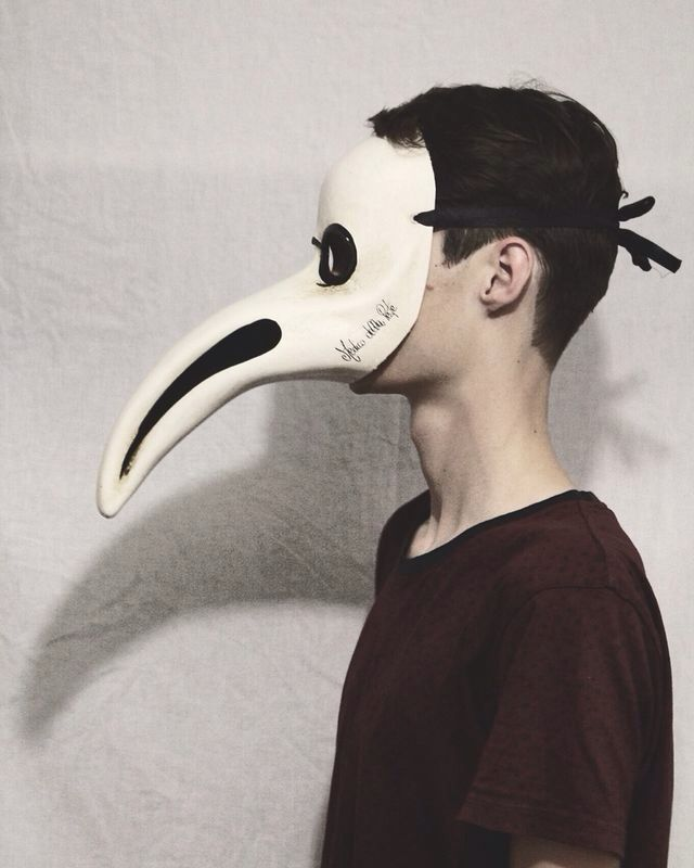 Mask portrait- photo taken by Ashleigh Hunter