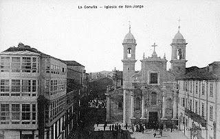 Iglesia de San Jorge 1909,lateral del Ayuntamiento.