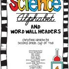 **Free for the first 25 downloads**    This alphabet is specific for science and your science word wall.    Includes A-Z letters with science words. (A...
