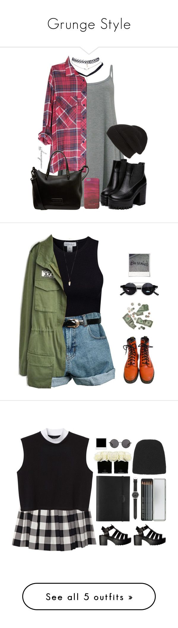 """Grunge Style"" by pixie-inspired ❤ liked on Polyvore featuring Wet Seal, Phase 3, Marc by Marc Jacobs, Jigsaw, Estradeur, House of Holland, Retrò, Dr. Martens, Eloquii and xO Design"